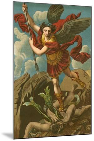 St Michael Vanquishing Satan-Raphael-Mounted Giclee Print