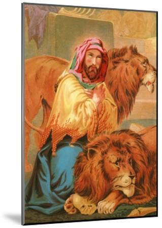 Daniel in the Lion's Den-English School-Mounted Giclee Print