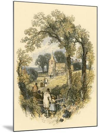 The Sabbath-Miles Birkett Foster-Mounted Giclee Print