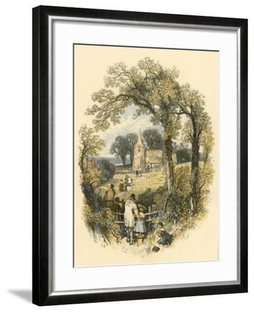 The Sabbath-Miles Birkett Foster-Framed Giclee Print