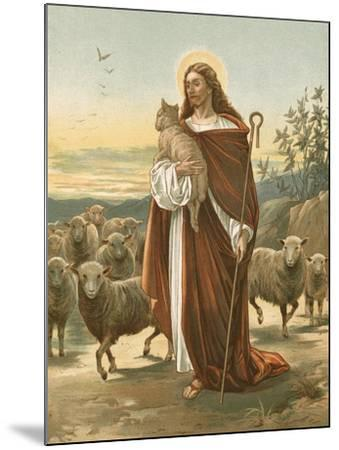 The Good Shepherd-John Lawson-Mounted Giclee Print