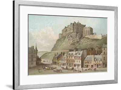 The Castle from the Grassmarket - Edinburgh-English School-Framed Giclee Print
