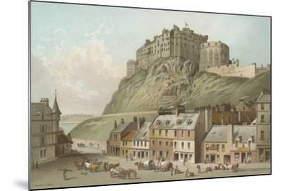 The Castle from the Grassmarket - Edinburgh-English School-Mounted Giclee Print