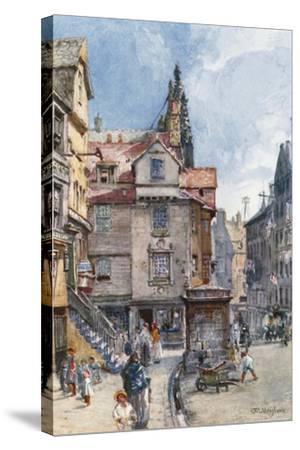 John Knox's House, High Street-John Fulleylove-Stretched Canvas Print