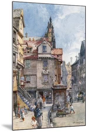 John Knox's House, High Street-John Fulleylove-Mounted Giclee Print