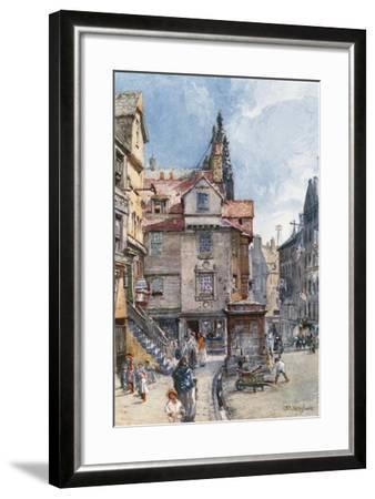 John Knox's House, High Street-John Fulleylove-Framed Giclee Print