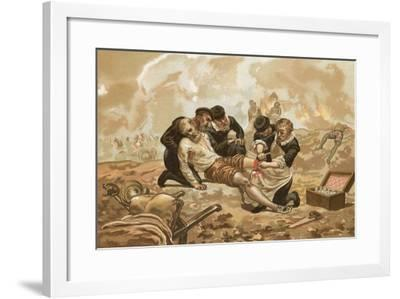 Ambroise Pare, Who Introduced the Ligature of Arteries-Josep or Jose Planella Coromina-Framed Giclee Print