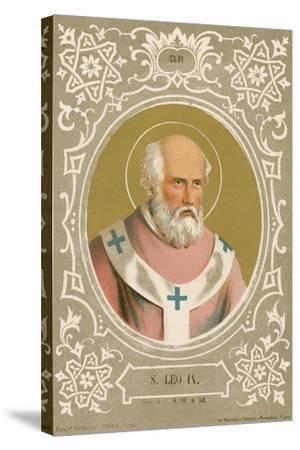 S Leo IX-European School-Stretched Canvas Print