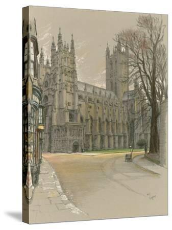 Canterbury Cathedral-Cecil Aldin-Stretched Canvas Print