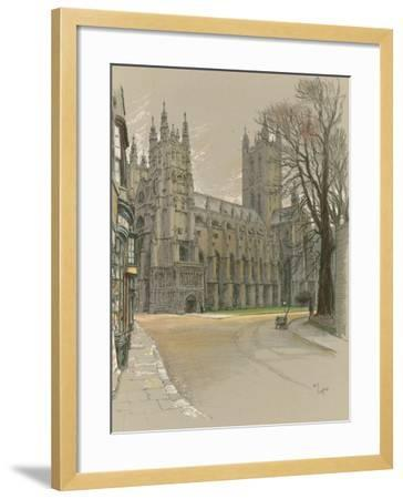 Canterbury Cathedral-Cecil Aldin-Framed Giclee Print