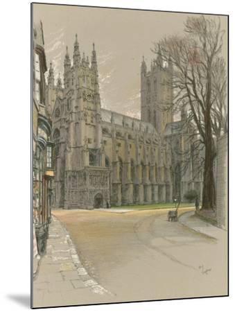 Canterbury Cathedral-Cecil Aldin-Mounted Giclee Print