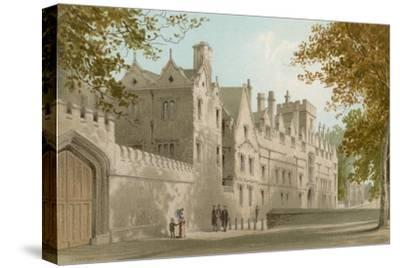 St. John's College - Oxford-English School-Stretched Canvas Print