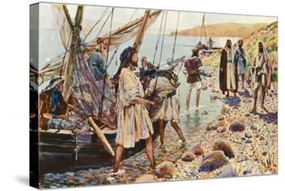 The Calling of Four Disciples-Corwin Knapp Linson-Stretched Canvas Print