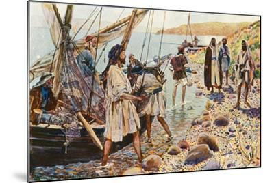 The Calling of Four Disciples-Corwin Knapp Linson-Mounted Giclee Print