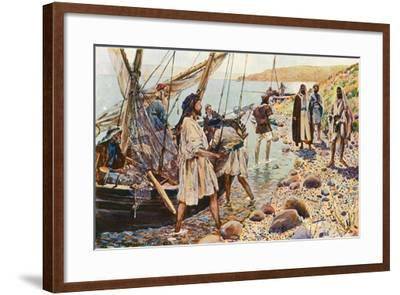The Calling of Four Disciples-Corwin Knapp Linson-Framed Giclee Print