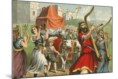 King David Fetching the Ark of the Covenant-English School-Mounted Giclee Print