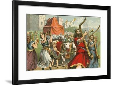 King David Fetching the Ark of the Covenant-English School-Framed Giclee Print