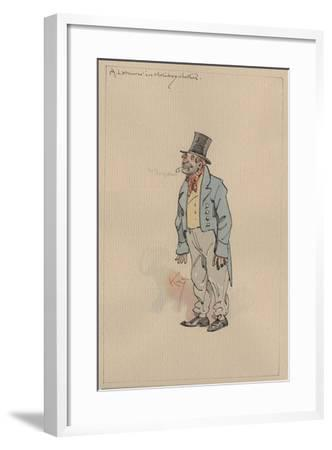 A Labourer in Holiday Clothes, c.1920s-Joseph Clayton Clarke-Framed Giclee Print