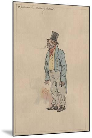 A Labourer in Holiday Clothes, c.1920s-Joseph Clayton Clarke-Mounted Giclee Print