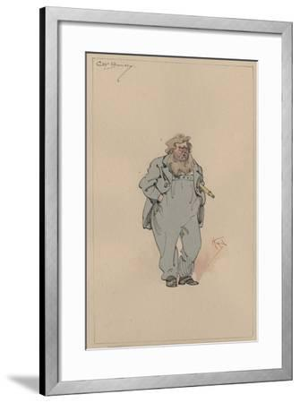 Captain Jack Bunsby, c.1920s-Joseph Clayton Clarke-Framed Giclee Print