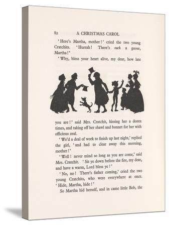 'Bob Cratchit and Tiny Tim', 1915-Arthur Rackham-Stretched Canvas Print