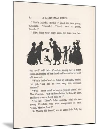 'Bob Cratchit and Tiny Tim', 1915-Arthur Rackham-Mounted Giclee Print