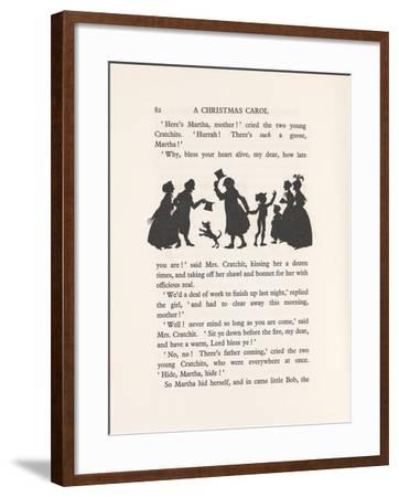 'Bob Cratchit and Tiny Tim', 1915-Arthur Rackham-Framed Giclee Print