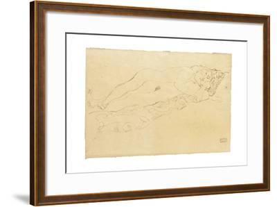 Two Reclining Nudes, c.1913-Gustav Klimt-Framed Giclee Print