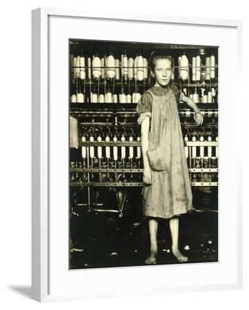 Spinner (Addie Laird), 1910-Lewis Wickes Hine-Framed Giclee Print