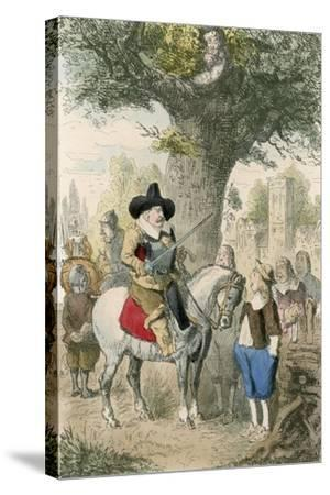 The Royal Oak, the Penderell Family Have No Idea Where Charles Is!!!-John Leech-Stretched Canvas Print