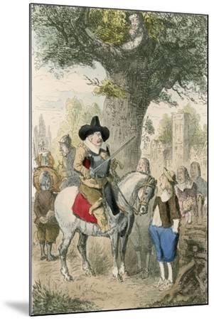 The Royal Oak, the Penderell Family Have No Idea Where Charles Is!!!-John Leech-Mounted Giclee Print