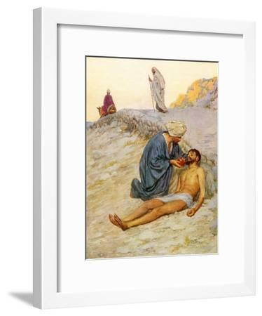 The Good Samaritan-William Henry Margetson-Framed Giclee Print