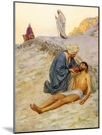 The Good Samaritan-William Henry Margetson-Mounted Giclee Print
