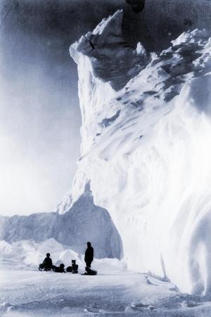 Dog Team Resting During the Terra Nova Expedition, 1910-Herbert Ponting-Stretched Canvas Print