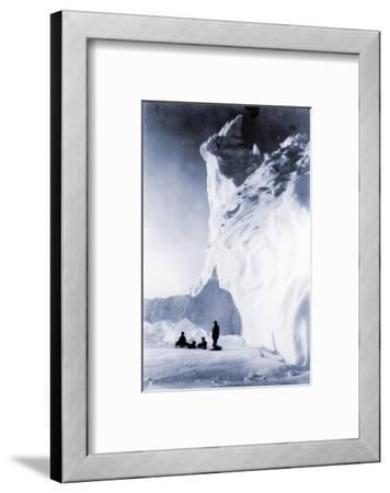 Dog Team Resting During the Terra Nova Expedition, 1910-Herbert Ponting-Framed Photographic Print