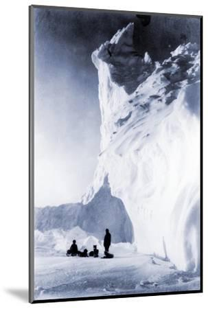 Dog Team Resting During the Terra Nova Expedition, 1910-Herbert Ponting-Mounted Photographic Print