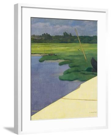 Quai de Berville, 1918-F?lix Vallotton-Framed Giclee Print