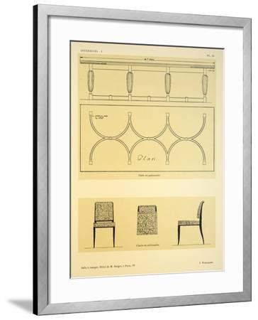 Salle a Manger IV, Hotel de M. Berger, a Paris, Illustration from 'Interieurs' by Leon Moussinac,…-Jacques-emile Ruhlmann-Framed Giclee Print