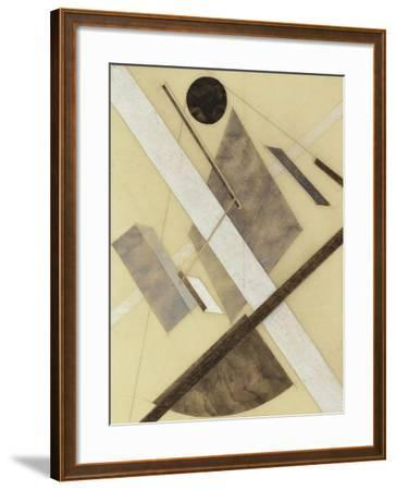 Proun: Path of Energy and Dynamic Flows, c.1920-El Lissitzky-Framed Giclee Print
