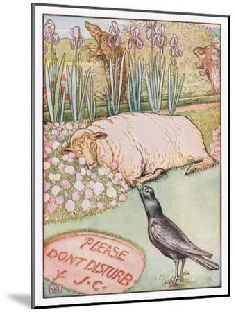 And the Sheep Went to Sleep, Illustration from 'Johnny Crow's Party', c.1930-Leonard Leslie Brooke-Mounted Giclee Print