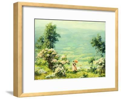 Pink Parasol, 1927-Charles Courtney Curran-Framed Giclee Print