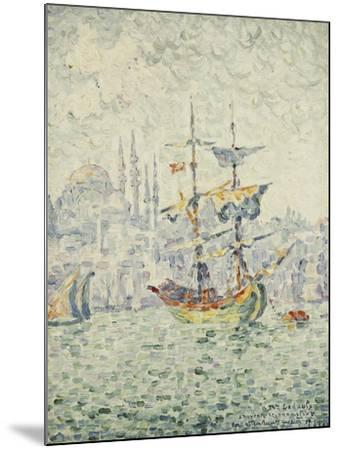 The Port of Constantinople; Le Port de Constantinople, 1907-Paul Signac-Mounted Giclee Print