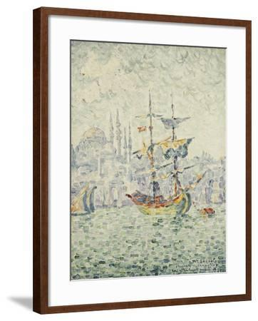 The Port of Constantinople; Le Port de Constantinople, 1907-Paul Signac-Framed Giclee Print