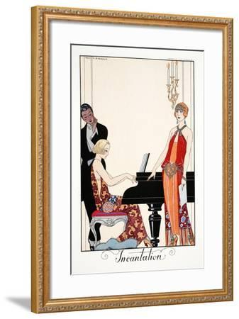Incantation, from 'Falbalas and Fanfreluches, Almanach des Modes Présentes,-Georges Barbier-Framed Giclee Print