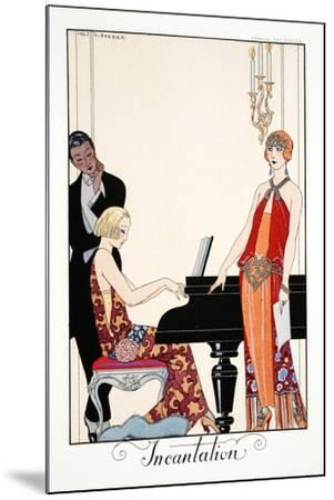 Incantation, from 'Falbalas and Fanfreluches, Almanach des Modes Présentes,-Georges Barbier-Mounted Giclee Print