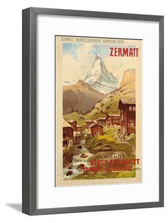 Zermatt, c.1900-Anton Reckziegel-Framed Giclee Print