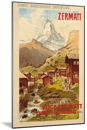 Zermatt, c.1900-Anton Reckziegel-Mounted Giclee Print