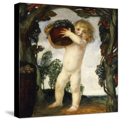 Boy with Grapes; Knabe Mit Trauben, 1903-Franz von Stuck-Stretched Canvas Print