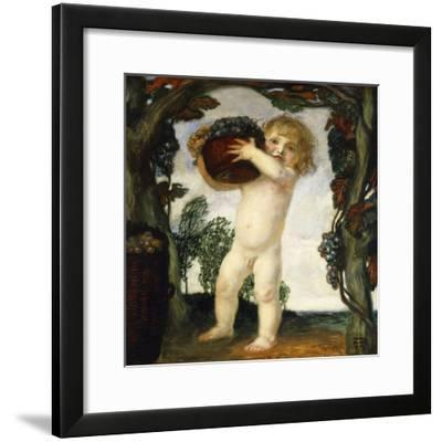 Boy with Grapes; Knabe Mit Trauben, 1903-Franz von Stuck-Framed Giclee Print
