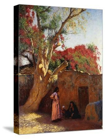 An Arab Family Outside a Village, 1917-Ludwig Deutsch-Stretched Canvas Print